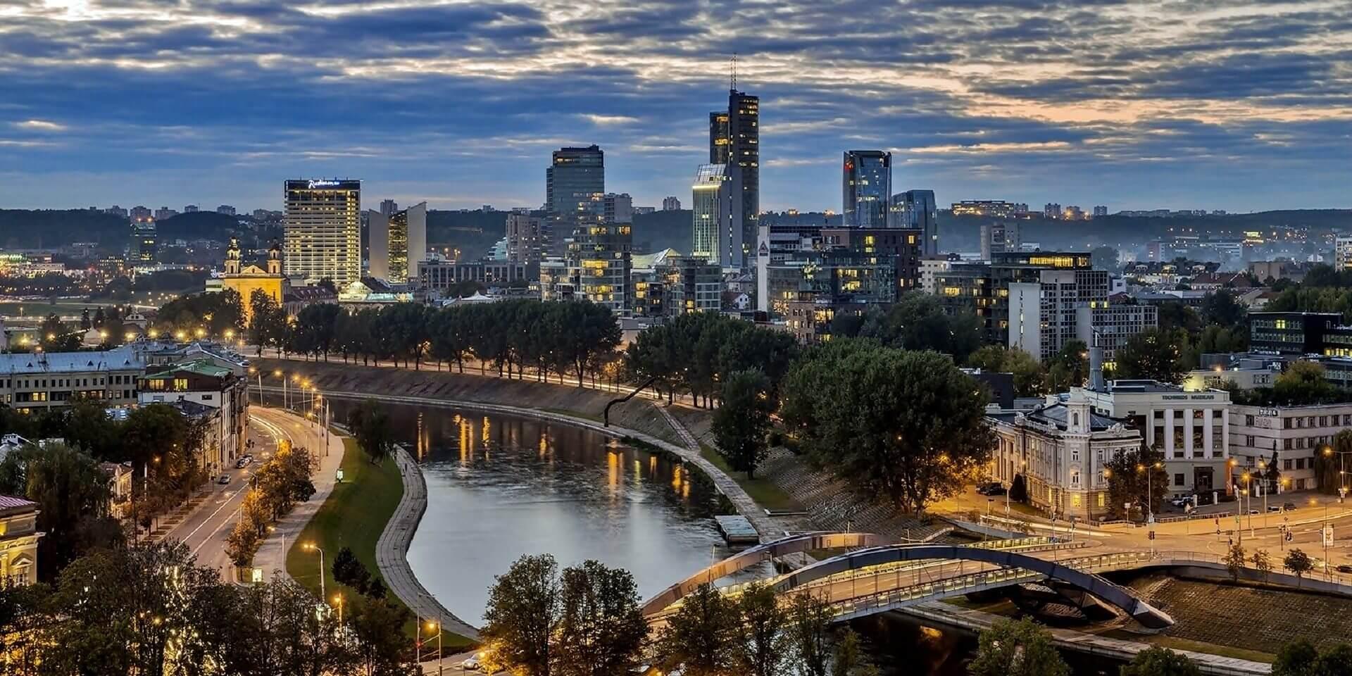 Vilnius City Center Panorama